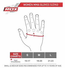 Glove Size Chart Uk Rdx Products Size Charts Measurement Guide