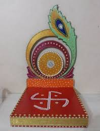 ganpati decoration use spoon for outside on top of foam and