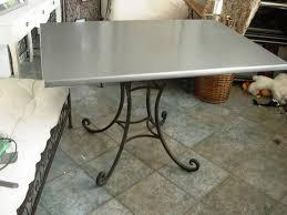 Table Avec Dessus En Zinc Table Plateau Zinc