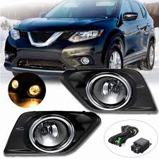 2016 Nissan Rogue Fog Light Cover Us 29 25 35 Off 1 Pair Chrome Clear Lens Car Fog Light Lamp For Nissan Rogue Suv 2014 2015 2016 With Bulbs Switch Bezel Kit Replacement In Car Light
