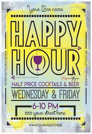 Happy Hour Flyer Happy Hour Flyer Free Psd Template
