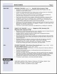 Gallery Of Examples Of Elementary Teacher Resumes