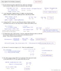 systems of linear equations word problems worksheet free