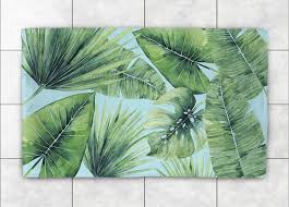 tropical palm tree leaves accent rug tropical area rugs by laural home