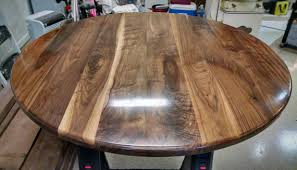 round walnut table top solid black wood breakfast pertaining to plans 5