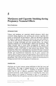 marijuana and cigarette smoking during pregnancy neonatal effects inside