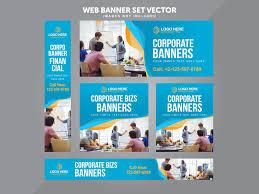 Business Banner Design Business Web Banner Set Vector By Miyaji Tech Dribbble Dribbble