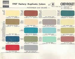 Chevy Stock Chart 1957 Chevrolet Paint Color Chips 1957 Chevrolet Car Paint