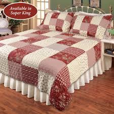 isabella patchwork quilt burdy