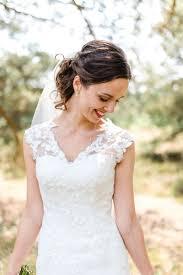 Etienne Reineke Bruid Kanten Bruidsjurk Wedding Bruidskapsel Met