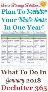 de clutter january declutter calendar 15 minute daily missions for month
