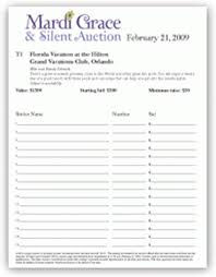silent auction program template auction sheets template templates franklinfire co