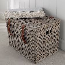 Large wicker basket Decorative Lidded Wicker Baskets In Rattan Place For Everything Store Fishermans Wicker Basket Large