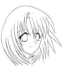 Small Picture Free Coloring Pages Of Anime Girl Face 616 Bestofcoloringcom