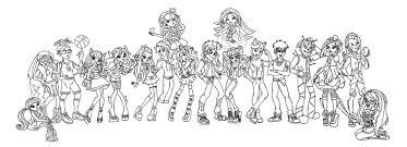 Small Picture Monster High Coloring Pages All Characters exprimartdesigncom