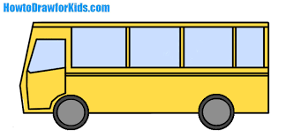 bus drawing for kids.  Kids How To Draw A Bus For Kids For Bus Drawing Kids N