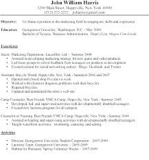 Examples Of Resume For Students Resume For College Undergraduate N ...