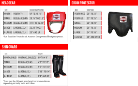 Mma Gloves Size Chart Boxing Gloves Equipment Size Chart
