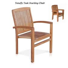 9 pc teak outdoor dining set milano rectangular table tenafly stacking chairs