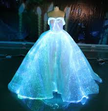 Dresses With Lights Fiber Optic Wedding Dress Rgb Led Light Up Wedding Gown Glow