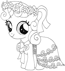 My Little Pony Sweetie Belle Kleurplaat My Little Pony Kleurplaten