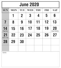 Free June 2020 Printable Calendar Template Pdf Excel Word