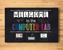 Amazon Com Blue Bunny Welcome To The Computer Lab School