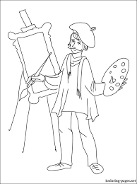 Small Picture Painter coloring page Coloring pages