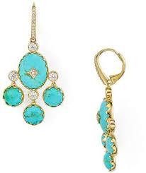 free 150 at bloomingdale s nadri bir turquoise chandelier earrings