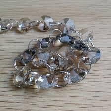 14mm cognac crystal garland 5meters octagonal glass crystal beads strand wedding decor