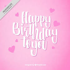 Happy Birthday Pink Background Vector Free Download