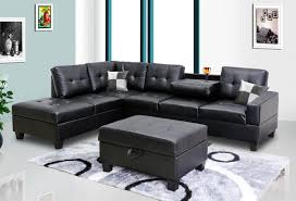 black sectional sofa. Fine Black Black Faux Leather Sectional With Sofa S