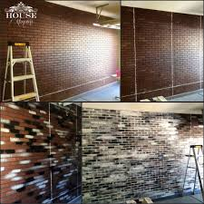 brick, contemporary, eclectic, faux brick panels, faux finish, garage, home