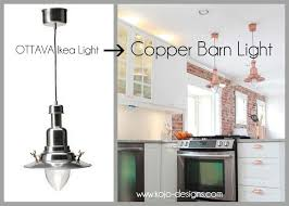island lights painted flat grey or black ikea hack how to turn an ottava light into a copper barn pendant light
