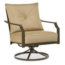garden treasures vinehaven set of 2 steel swivel patio rocker chairs