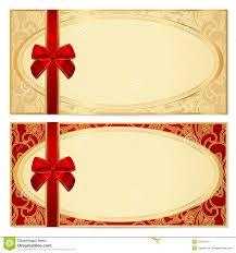 Blank Voucher Template Clipart Gift Certificate Template