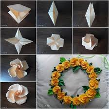 How To Make Origami Paper Flower How To Make Origami Paper Craft Rose How To Instructions