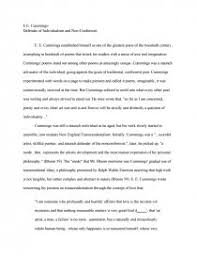 conformity essay homework help kindergarten landman resume sample  e e cummings defender of individualism and non conformity term zoom