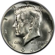 1967 Kennedy Half Dollar Value Chart 1965 Kennedy Half Dollar Values And Prices Past Sales