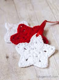 Crochet Star Pattern Enchanting Crochet Star Ornament Pattern One Dog Woof