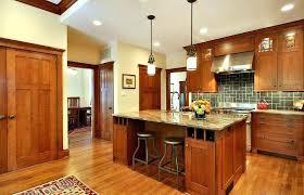 craftsman style outdoor pendant lighting kitchen island range hood wood flooring hanging mini lights