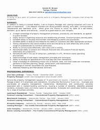 Leasing Consultant Resume Unique Residential Property Manager Resume