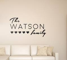 personalised family name wall stickers  on personalised family name wall art with personalised family name wall stickers family name wall art fox