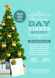 christmas dinner poster christmas day poster with dressed xmas tree image easil