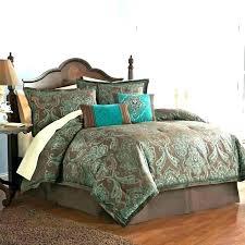 teal comforter sets king brown