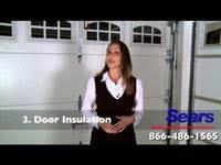 sears garage doorsGarage Door Installation Insulated Carriage House  Wooden