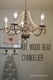 Diy Bead Chandelier Right Up My Alley Diy Wood Bead Chandelier