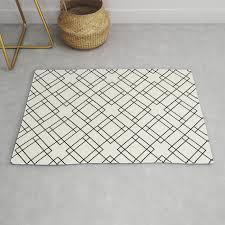 simply mod diamond black and cream rug