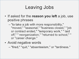 Good Reasons To Leave A Job Good Reason For Leaving Job On Resume Archives Hashtag Bg