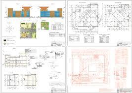 Курсовые и дипломные проекты общественное здание скачать dwg  Дипломный проект Торговый центр Синий бархат в г